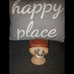Other - Vintage Ugly Smiling Face  Pottery Cup